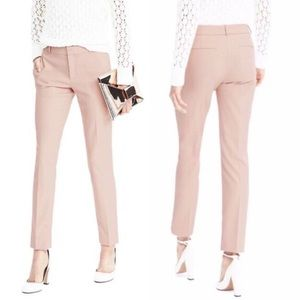 Banana Republic Ryan Pink Herringbone Twill Pants